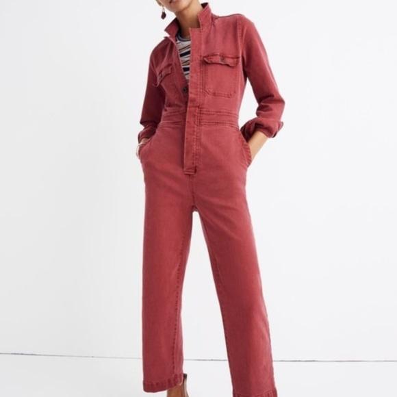 c1dc4b3d483 Madewell Garment-Dyed Denim Slim Coverall Jumpsuit